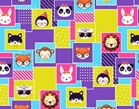 sleepy animals | pattern design