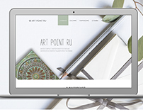 web-design for Art Point Ru.