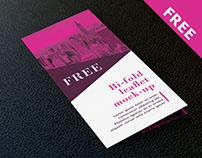 Free bifold DL leaflet mockup