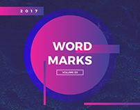 WORDMARKS | Volume 3 (2017)