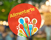 Alimentarte food festival brand identity