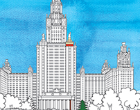 «Moscow Sights» coloring book