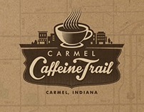 Carmel Caffeine Trail Logo and Print Design