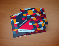 Square Cool Colorful Pattern Trifold