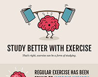 Study Better With Exercise Infographic