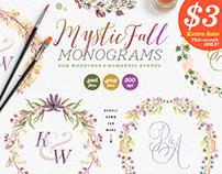 8 Mystic Fall Wedding Monograms VI
