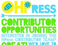 HASHTAGpaleo: Contributor Flyer