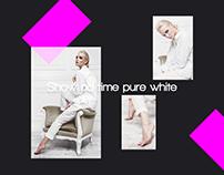Show no time pure white/Fashion