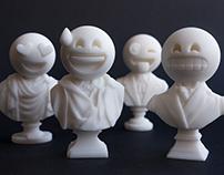 Sculptmojis / 3D printed