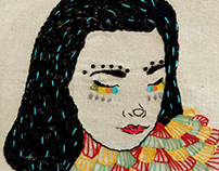 Björk embroidery