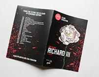 Richard III -- printed program