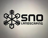 SNO landscaping logo design