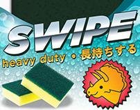 Dinosaurs Taiwan Scrubbing Sponges Packaging Design