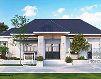15 mẫu nhà biệt thự mini 1 tầng mái thái hiện đại đẹp