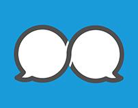 Logo design for language learning website