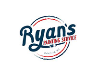 RYAN'S PAINTING SERVICE | Logo Design