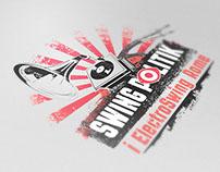SWING POLITIK - Logo per rassegna eventi I Electroswing