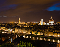 Florence at night light
