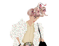 Fashion illustrations for the cosmopolitan.kz