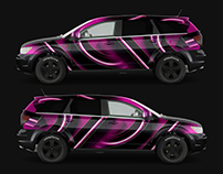 Free Mockup Dodge Journey // Car Wrap Template 2009