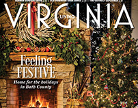 Virginia Living Magazine Cover Feature. Dec 2018