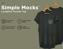 Men's Longline Pocket Tee Mockup