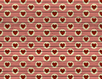 FREE Retro Valentine's Wood