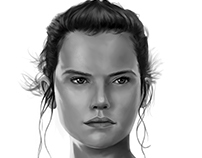 Star Wars: Force Awakens - Rey Speedpaint Portrait