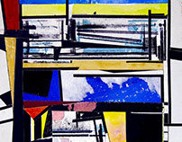 GALVIN HARRISON Landscapes - Papier Collé