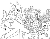 Monster High pokemon trainers