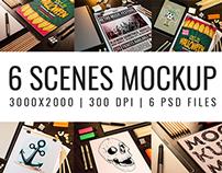 6 Scenes Mockup