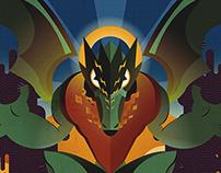 Dragon and Sludge Illustration