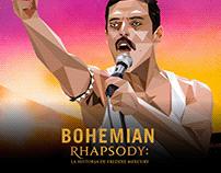 Ilustraciones de Bohemian Rhapsody para FOX Premiun.