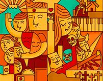 Cartel Festival Cultural / Cultural Festival Poster