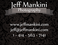 Jeff Mankini Photography Business Card