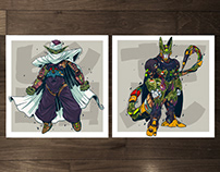 MECHASOUL PICCOLO + CELL FINE ART PRINTS SET
