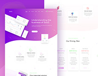 Software showcase and SaaS landing page design