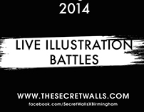 Secret Walls x Birmingham Illustration battles