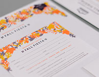 Rosemount Center Fall Fiesta Stationery
