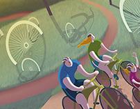 Illustration works for Decathlon