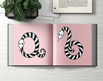 Illustrated Alphabet of Snakes
