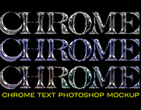 SHINY CHROME TYPE MOCKUP