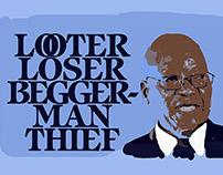 Criminal President using SA taxpayer's money illegally