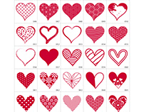 Vector Hearts Collection