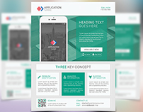 Paper Material Design Style App Promotional Flyer