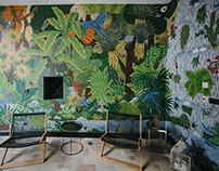 Hidden garden / interior mural