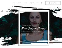 Website Header Page Design Concept 2017