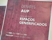 """Cartaz - Debate """"Espaços Generificados"""" - abril/2018"""