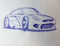First Car drawing practice BMW WEC Car