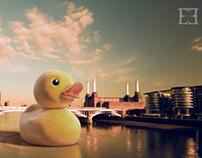 Rubber Duck. 3D Compositing.